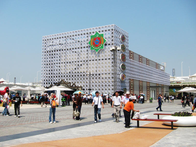 2010 Shanghai Expo TurkmenistanPavilion royalty-vrije stock afbeeldingen