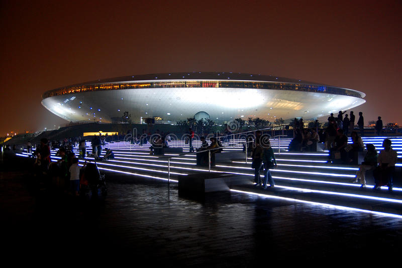 2010 Shanghai World Expo Performing Arts Center stock photography