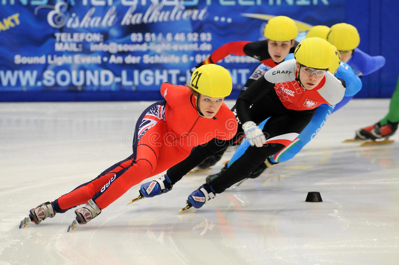 2010 Short track European championship royalty free stock photography
