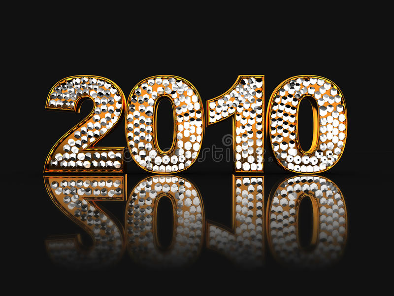 '2010' sign royalty free illustration