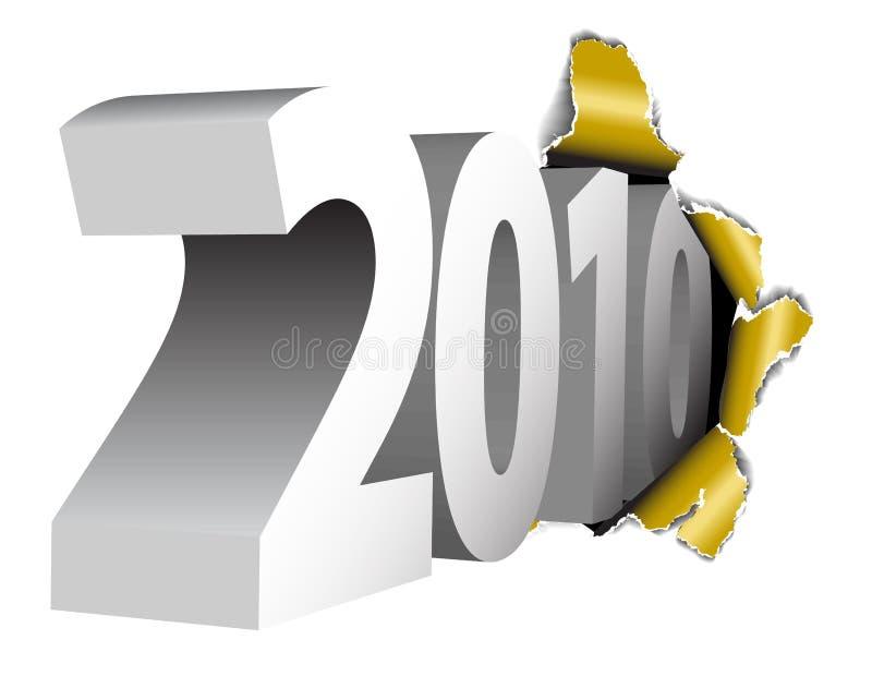 2010 szczęśliwych nowy rok ilustracja wektor
