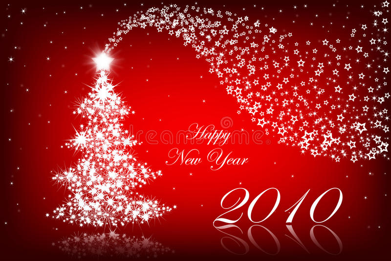 2010 tło rok szczęśliwy nowy czerwony ilustracja wektor
