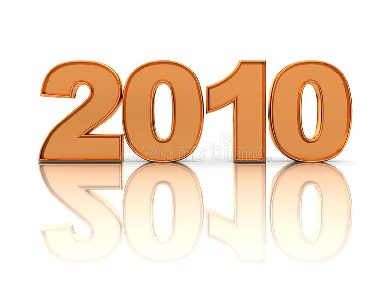 '2010' text royalty free illustration