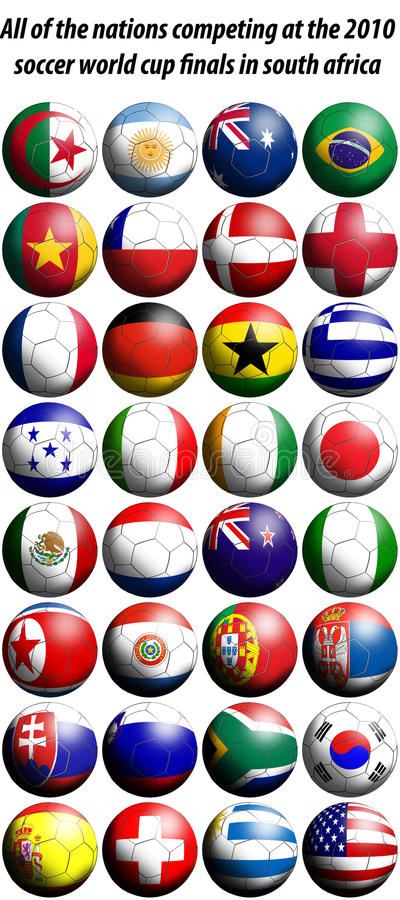 Download 2010 World Cup Football Flags Stock Illustration - Image: 14065094