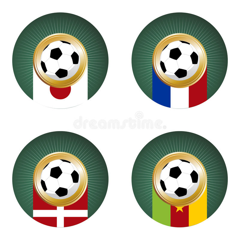 2010 World Cup South Africa Group E royalty free stock photos