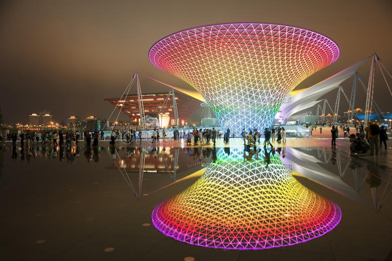 2010 world expo royalty free stock images