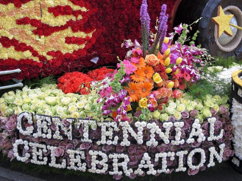 2011个碗柏本克市浮动游行玫瑰色s 库存图片