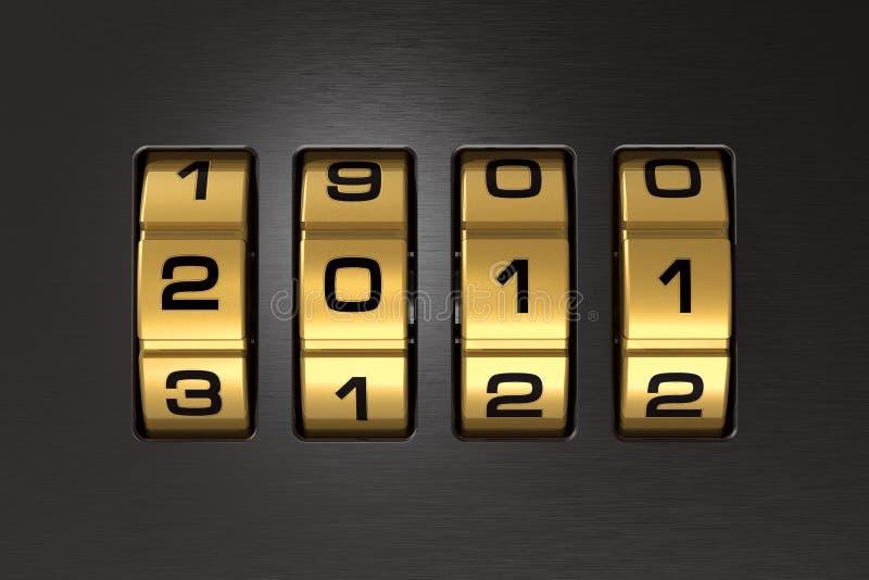 2011个编码锁定新年度 皇族释放例证
