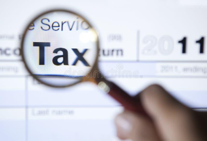 2011份表单玻璃扩大化的税务 图库摄影
