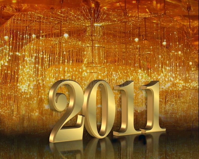 2011前夕新年度 库存例证
