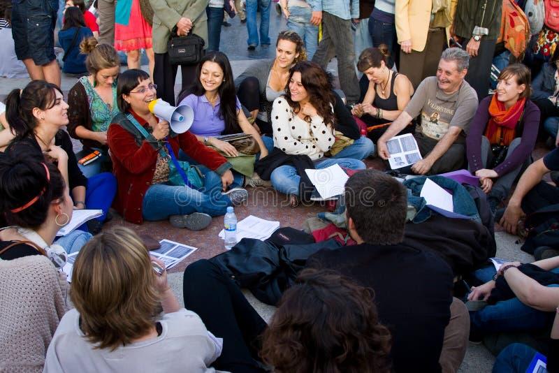 2011可以革命西班牙语 库存照片