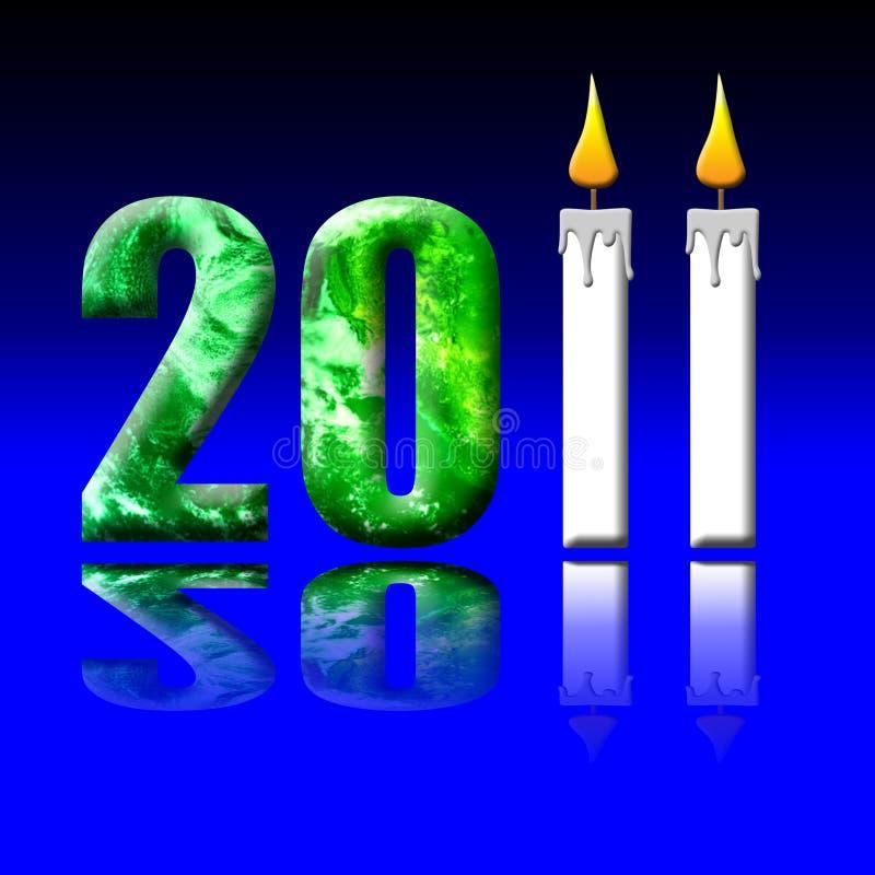 2011地球时数 向量例证