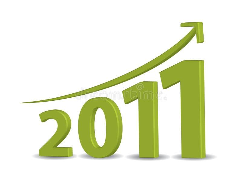 2011年企业增长 库存例证