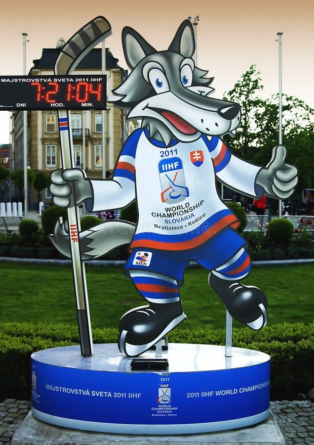 2011年冠军曲棍球吉祥人官员世界 免版税库存照片