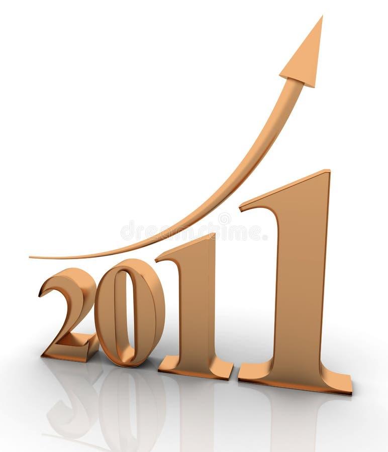 2011年增长年 向量例证