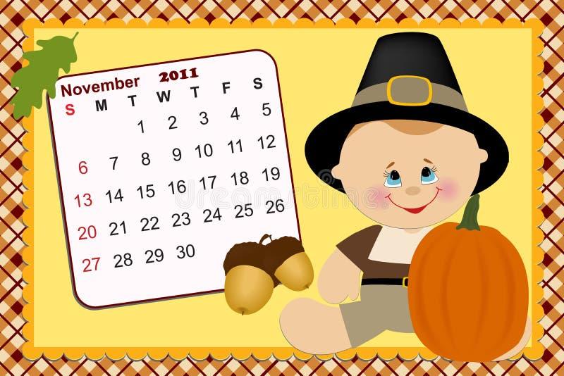 2011年婴孩日历月度s 向量例证