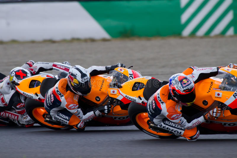 2011年日本motogp 图库摄影