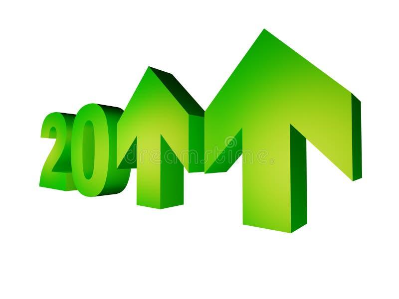2011年显示年的增长 向量例证
