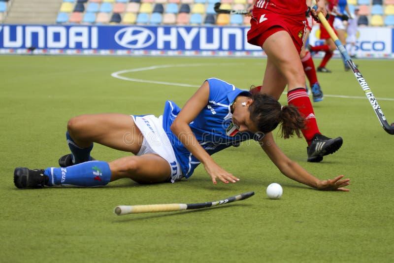 2011年比利时杯子欧洲德国曲棍球意大࠷ 免版税库存照片