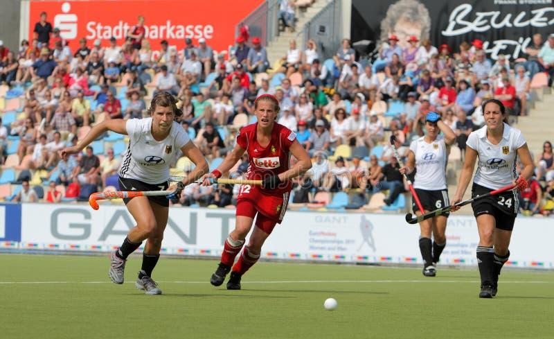 2011年比利时杯子欧洲德国曲棍球v 库存图片