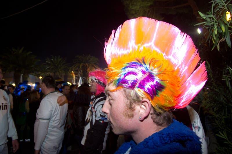 2011年狂欢节意大利viareggio 库存照片