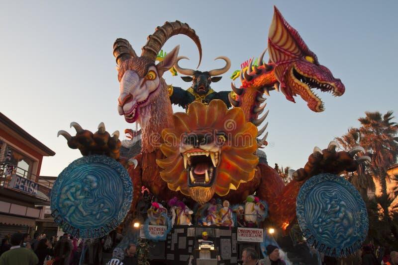 2011年狂欢节viareggio 图库摄影