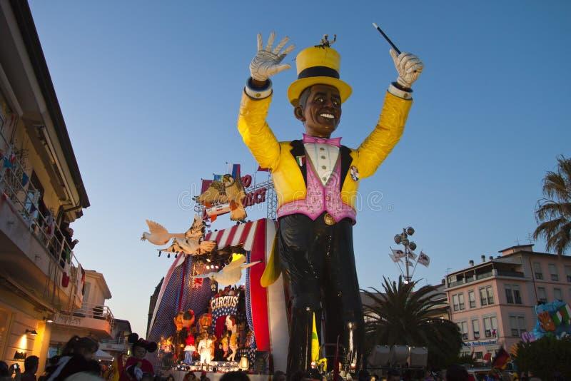 2011年狂欢节viareggio 免版税库存照片
