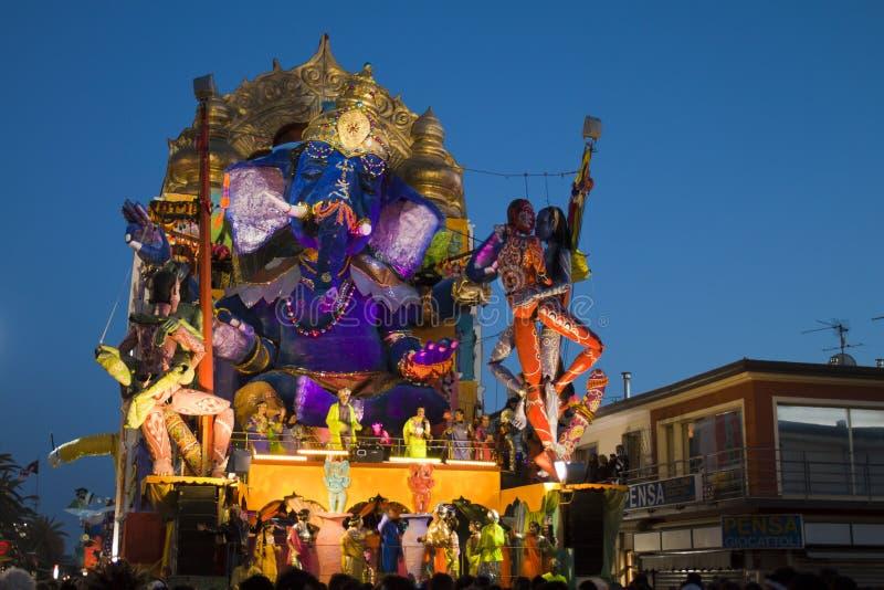 2011年狂欢节viareggio 免版税库存图片
