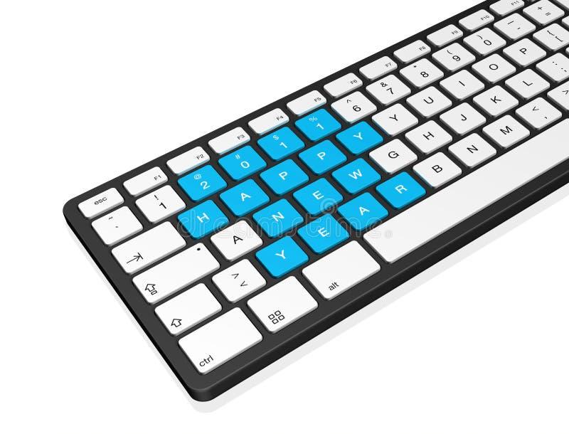 2011年计算机键盘新年度 向量例证