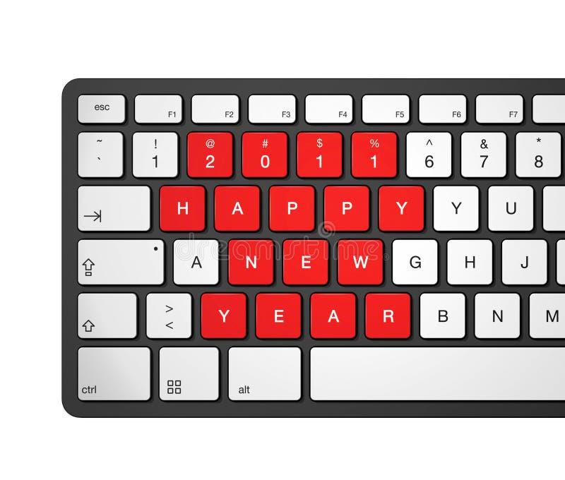 2011年计算机键盘新年度 库存例证