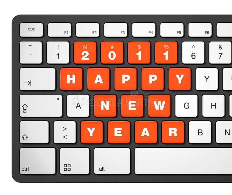 2011年计算机键盘新年度 皇族释放例证