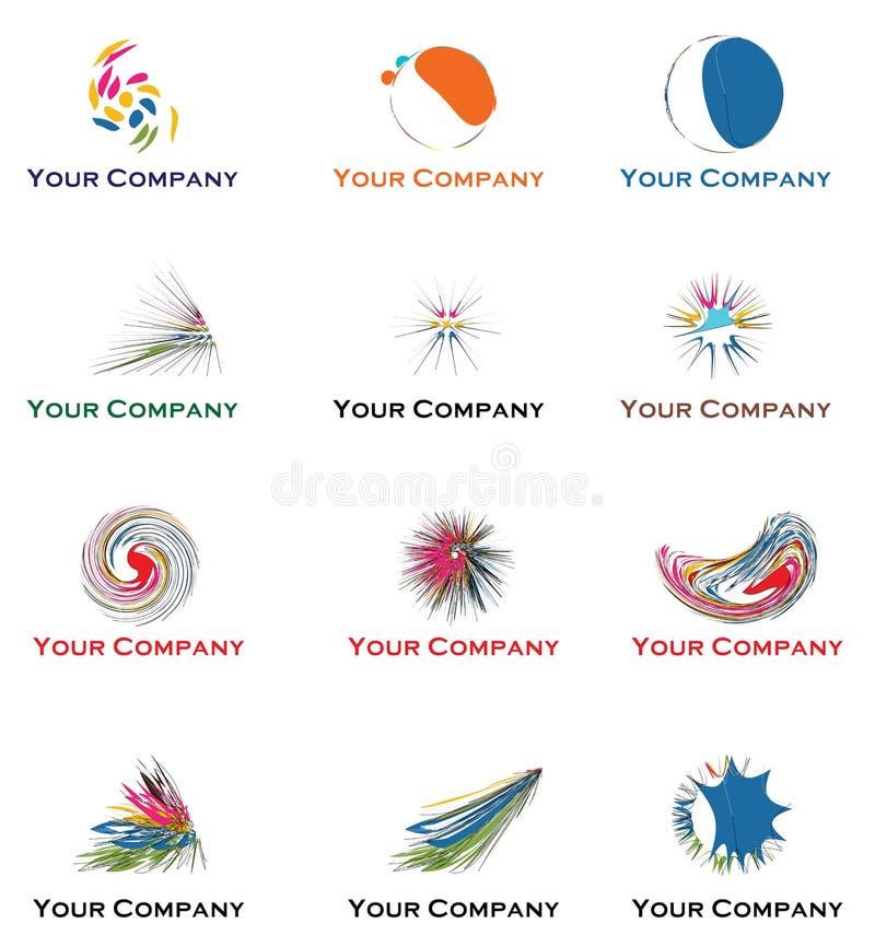 2011您2012年企业的徽标 库存例证