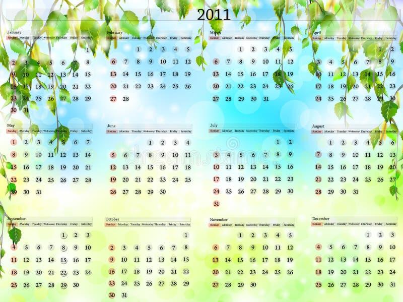 2011日历 库存例证