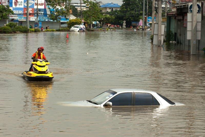 2011洪水兆泰国 免版税库存图片