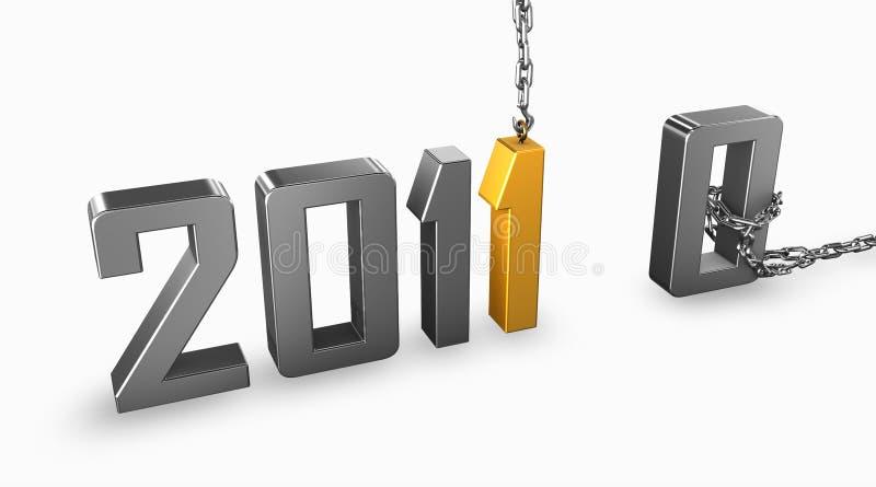 2011 χρυσό διανυσματική απεικόνιση