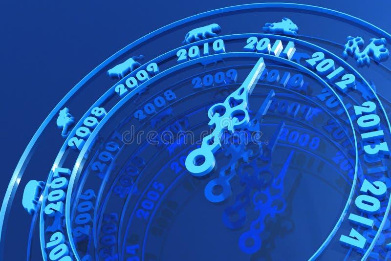 2011 приходя Новый Год иллюстрация вектора