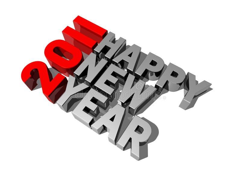 2011 счастливое Новый Год иллюстрация штока