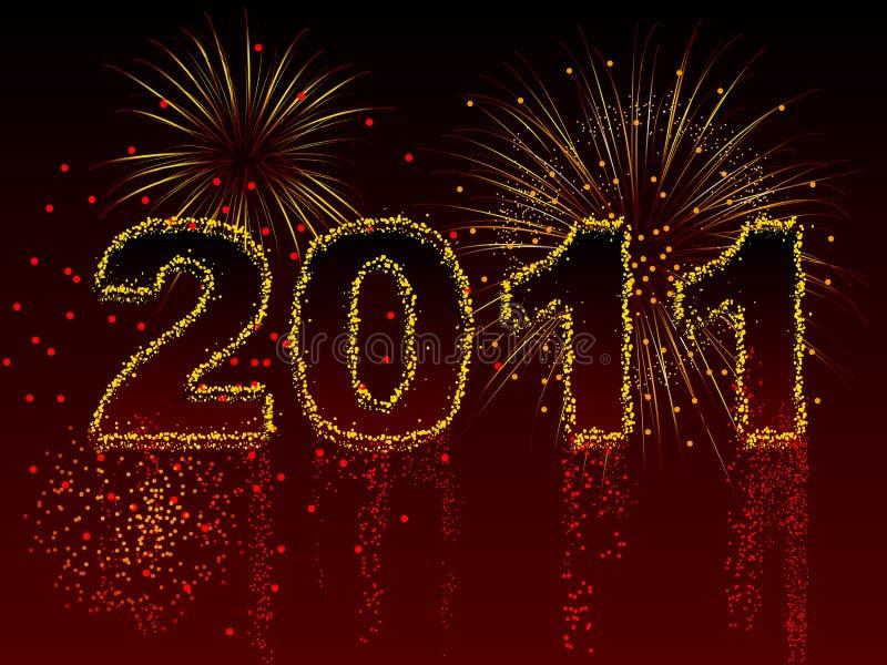 2011 феиэрверк бесплатная иллюстрация