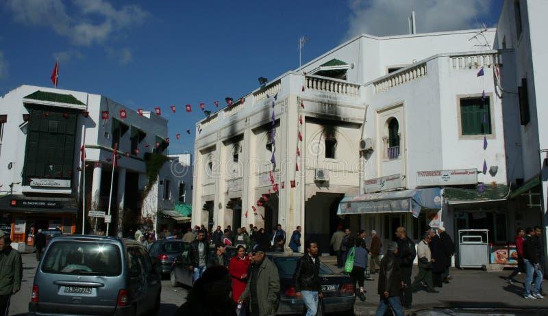 2011 31. borgerliga tumult januari tunisia royaltyfri bild