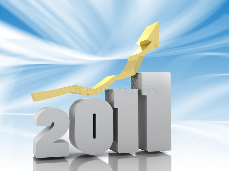 2011 3d年 向量例证
