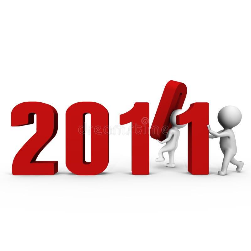 2011 3d formularzowego ima nowa liczba target893_0_ rok ilustracja wektor