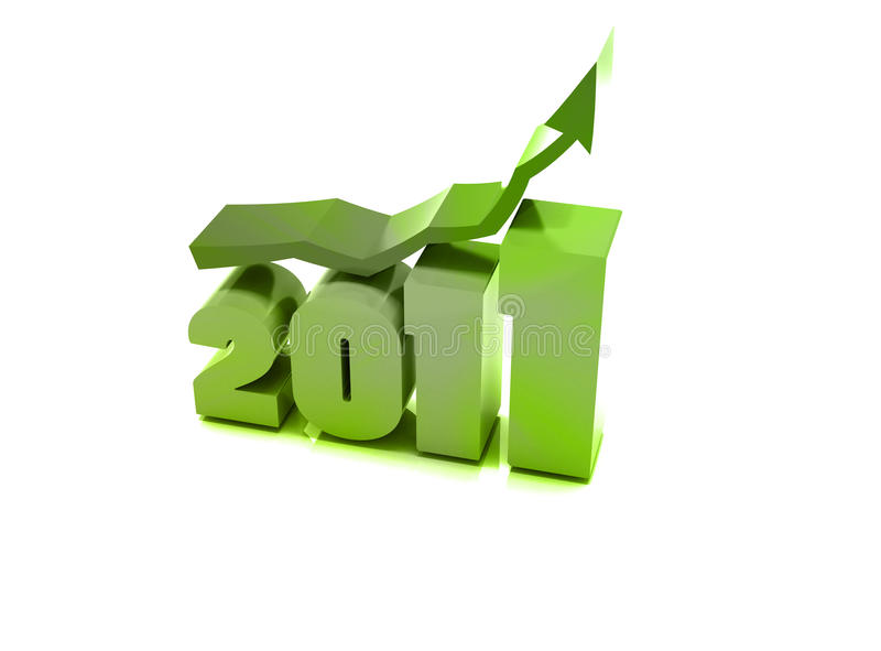 2011 - 3d Year stock images