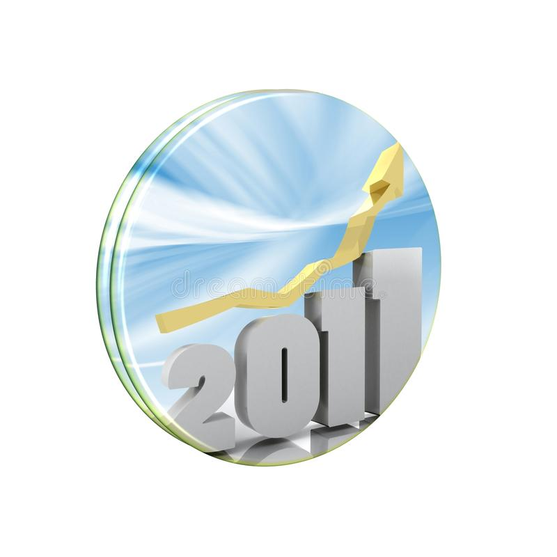 2011 - 3d Year royalty free illustration