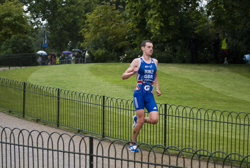 2011 Alistair brownlee London triathlon zdjęcie stock
