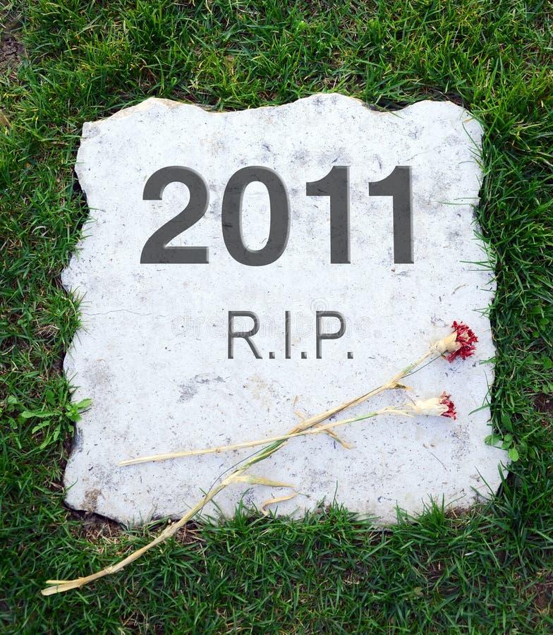 2011 anno è guasto immagini stock libere da diritti
