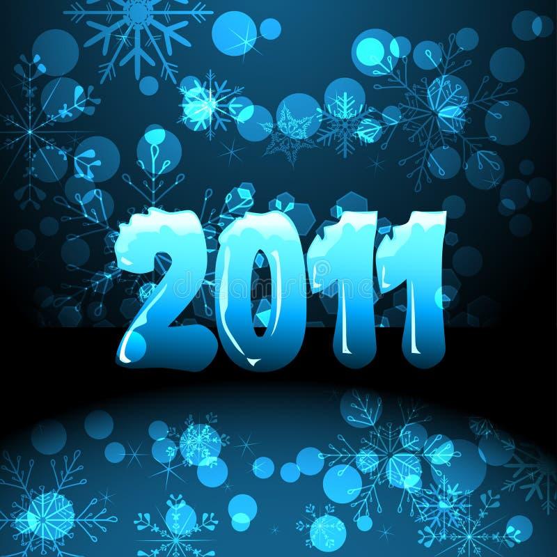 2011 anos novos de cartão ilustração stock