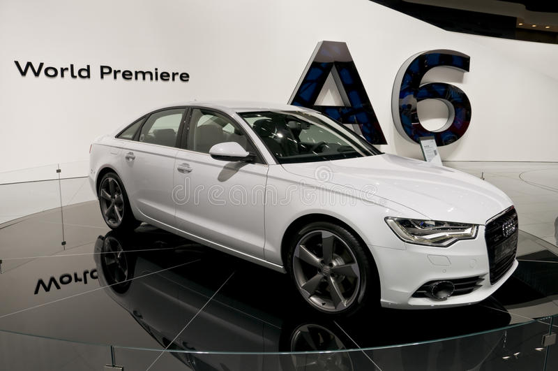 2011 Audi A6 bij NAIAS royalty-vrije stock foto