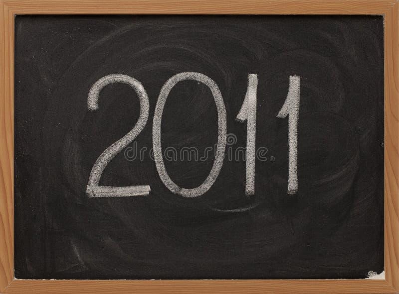 2011 blackboard kredy biel obrazy royalty free