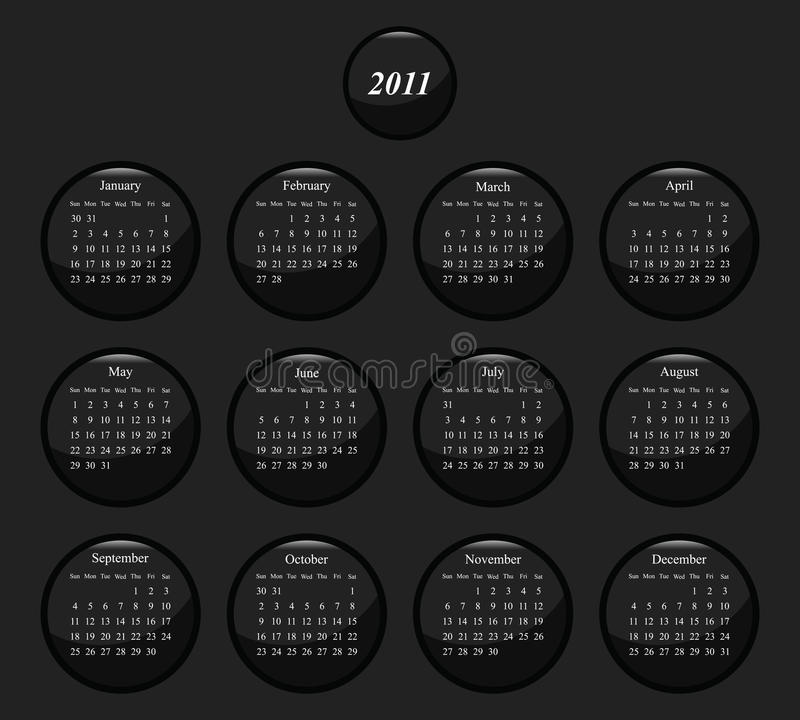 2011 Calendar Royalty Free Stock Photos