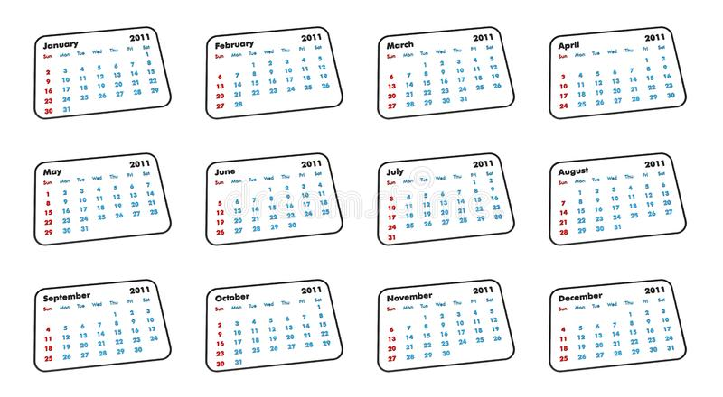 Download 2011 Calendar stock illustration. Illustration of march - 14331854